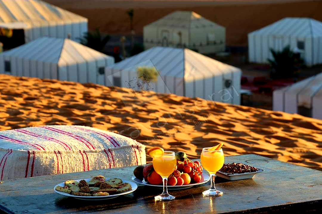 Explore the pure restauration menu of Ksar Merzouga Hotel